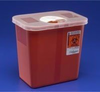 PT# 8990SA Container Sharps Operating Room Red 2gal Ea by, Kendall Company