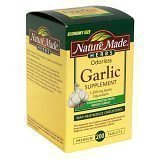 Nature Made Odor Control Garlic 1,250 Mg Garlic Equivalent, Tablets, 200-Count ()