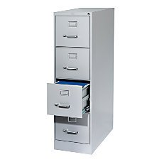 Light Gray Vertical 4 Drawer (WorkPro 26 1/2