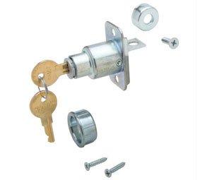 Knape & Vogt BX1062-US26D Pocket Door Lock, Nickel, Keyed Different