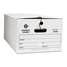 Business Source File Storage Box - Legal - White