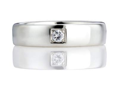 Platin Herren-Verlobungsringe 0,10 Karat Rundschliff natürlicher Diamant 950 massives Platin Spiegel-Finish