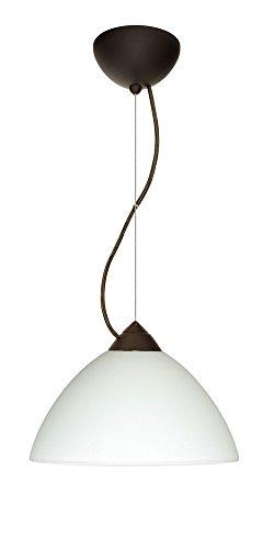 Besa Lighting 1KX-420107-BR Tessa - One Light Pendant, Choose Finish: BR: Bronze, Choose Mounting Option: 1KX: Dome Canopy Cable Fixture, Choose Lamping Option: 75W Incandescent-A19 Medium-120v