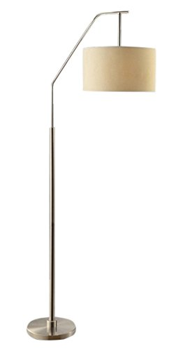 Crestview collection 384309 dinsmore floor lamp cream nickel crestview collection 384309 dinsmore floor lamp cream nickelbrushed nickel aloadofball Images