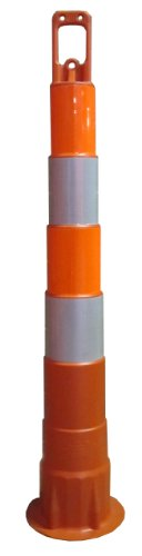 Work Area Protection CC42 Linear Low Density Polyethylene Channelizer Traffic Cone with Diamond Grade/High Intensity Sheeting, 6