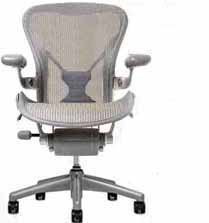 [Aeron Chair by Herman Miller - Home Office Desk Task Chair Fully Loaded Highly Adjustable Large Size (C) - PostureFit Lumbar Back Support Cushion Titanium Smoke Frame Classic Quartz Pellicle] (Herman Miller Mesh Chair)