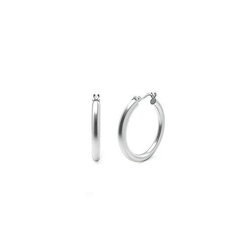 2mm Small Hoop Earrings - Sterling Silver Hoop Earrings - 2mm x 18mm Click-Top Tube Hoop
