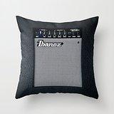 "18"" x 18"" Retro Black Guitar Electric Amplifier Decorative Throw Pillow Case Cushion Cover"