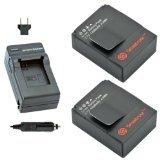 Smatree Battery (1200mAh x 2 Packs) and Charger kits for GoPro HD HERO3, HERO3+ and GoPro AHDBT-201, AHDBT-301, AHDBT-302