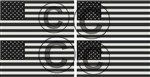 Yellow Dog American Subdued Flag Sticker 4 Pack 3