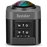 VR 360 Degree Panorama Camera, Besteker D5 360 Degree 1080P Sport DV Full View VR Camera Wireless...