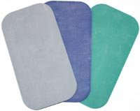 balanced body Non-Skid Kneeling Pad, No-Slip Knee, Elbow, and Wrist Protector Cushion, Pilates Props, 7.5 x 14 Inches, Light Gray