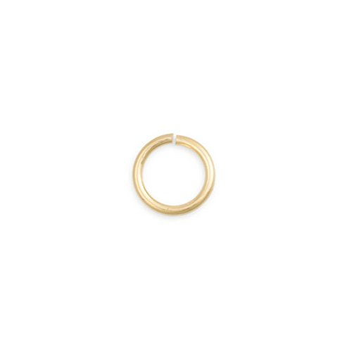 5.8mm 14 Karat Solid Yellow Gold Open Jump Ring 14k Yellow Gold Jump Ring