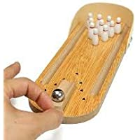 Mini-Entertainment Wooden Bowling Game Set (H:2.5 L:12 INCHES)