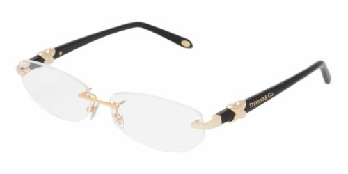 6090dd4aa14 Image Unavailable. Image not available for. Colour  Tiffany   Co. Women s  1026 Gold Frame Rimless Eyeglasses ...