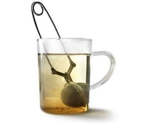 Mingwei Green Tea Stainless Steel Infuser Ball with Filter Clip, Green