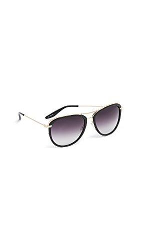 Barton Perreira Women's Aviatress Sunglasses, Black/Smolder, One - Barton Perreira Sunglasses