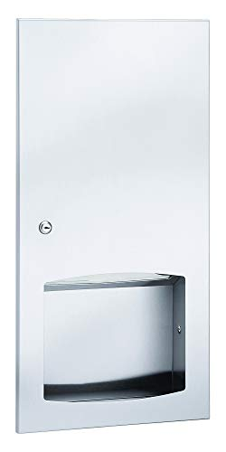 Bradley 2447-1000 Paper Towel Dispenser SEMI RECESSED 800 MULTI/500 C-FOLD