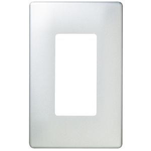 Pass & Seymour, Screwless Decorator Wall Plate, Brushed Steel ...