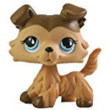 Five Stars Store Littlest Pet Shop Pet Collie Dog Child Girl Figure Toy Loose Cute for Family and Friends Doll (Brown)