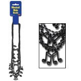 Beistle 57224-BK 6-Pack Black Musical Note Beads, 32-Inch