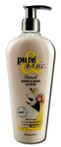 Pure & Basic Natural Bath and Body Lotion Wild Banana Vanilla -- 12 fl oz