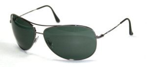 abf75bc18e Ray-Ban RB 3293 004 71 Gunmetal Grey AVIATOR Sunglasses With Green Lenses- 67mm (B002LHKDT8)