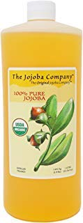 The Jojoba Company USDA Certified Organic HobaCare Jojoba - 100% Pure Jojoba, 1 Liter (33.76 fl oz.)