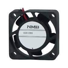 NMB TECHNOLOGIES 02510SS-05P-AT-00 DC Fans DC Axial Fan, 25x10mm, 5VDC, 2.5CFM, Rib, Sleeve Bearing, Tachometer, 3-Wire