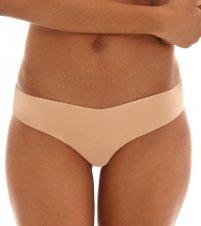 (commando Women's Cotton Thong, Nude, Tan,)
