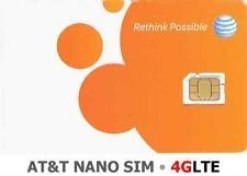 At&t Nano SIM Card for Iphone 5, 5c, 5s, 6, 6 Plus, and Ipad Air with Free Iphone Eject PIN (Sim Card Air Ipad)