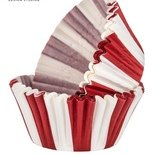 Carnival Circus Red White Striped Cupcake Liners Birthday Party Baking Cups 50 Ct.