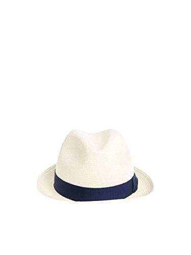Borsalino Men's 1410550014 White Jute Hat by Borsalino