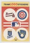 Atlanta Braves Team, Chicago Cubs Team, Kansas City Royals Team, Milwaukee Brewers Team (Lighter Logos) (Baseball Card) 1991 Fleer - Team Stickers Inserts #ACKM.2
