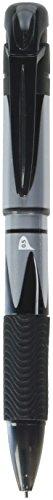 Pentel Twist Multi-Pen Energel, Needle Ballpoint Pen Ink + 0.5mm Pencil, Black/Red (XBLW5-A) (Pen Twist Plastic)