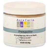 Aura Cacia Tranquility Aromatherapy Mineral Bath, 16 Ounce -- 3 per (Aura Cacia Tranquility Mineral Bath)