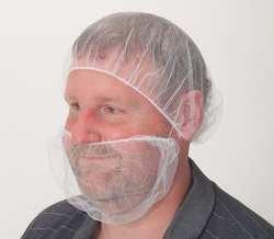 CONDOR 3EZD7 Beard Restraint, Polypropylene, WH, PK100 by PTP SUPPLY