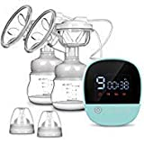 Double Electric Breast Pump - MOSFiATA Rechargeable Nursing Breastfeeding Pump with Massage Mode