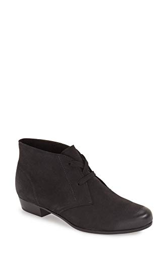 Munro Womens Sloane Leather Closed Toe Ankle Fashion, Black Suede, Size 8.5