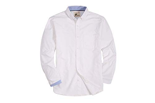 Pagetoc Mens Casual Button Down Regular Fit Long Sleeve Oxford Shirts with Pocket