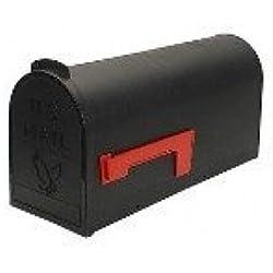 Flambeau T-R4501BL Standard Classic Mailbox, Rural Style, #1, Black