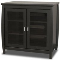 Inch Wide Flat Panel TV Hi-Boy - Black (Tech Craft Wood Finish Tv Stand)
