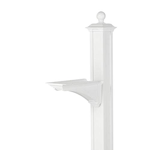 (Balmoral Deluxe Post and Bracket with Finial in White)