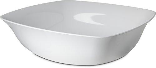Carlisle 3336402 Flared Square Serving Bowl, 15.5 Quart, White ()