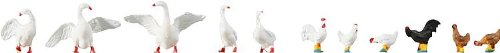 Faller 154010 Hens & Geese 11/HO Scale Figure Set