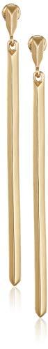 BCBG Generation 12k Linear Bar Drop Earrings