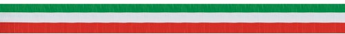 FR Red, White & Green Crepe Streamer Party Accessory (1 count) -