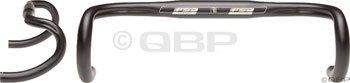 FSA Omega Compact 38cm 31.8 Round Drop Bar Black
