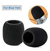 PoP voice 2 PCS Microphone Cover Foam for Blue Yeti/Yeti Studio/Yeti Pro