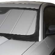 Covercraft UVS100 Custom Sunscreen: 2015-19 Fits Ford Mustang Coupe & Convertible (W/O Mirror Camera Option) (Silver) (UV11372SV)